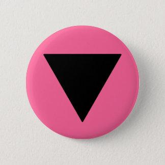 Bóton Redondo 5.08cm Triângulo lésbica do preto do orgulho