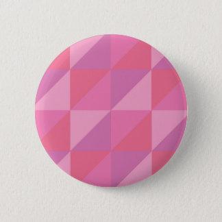 Bóton Redondo 5.08cm Triângulos cor-de-rosa