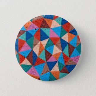 Bóton Redondo 5.08cm Triângulos pulverizados coloridos dos grafites