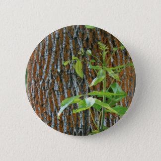Bóton Redondo 5.08cm Tronco com folha