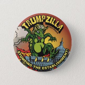 Bóton Redondo 5.08cm Trumpzilla! Dinossauro político do Pin do trunfo