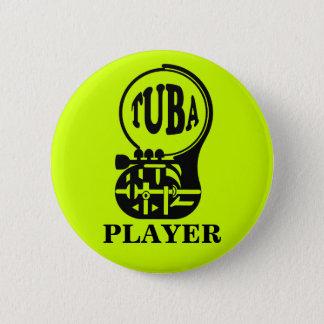 Bóton Redondo 5.08cm TUBA, jogador da tuba