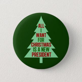 Bóton Redondo 5.08cm Tudo que eu quero para o Natal é um presidente