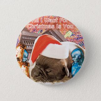 Bóton Redondo 5.08cm Tudo que eu quero para o Natal é você