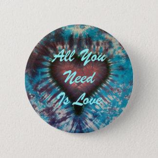 Bóton Redondo 5.08cm Tudo que você precisa é amor
