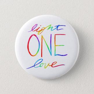 Bóton Redondo 5.08cm Um arco-íris inspirado do amor da luz uma exprime
