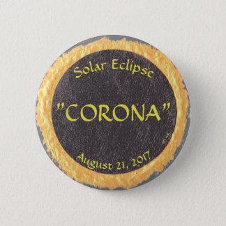 Bóton Redondo 5.08cm um botão para o eclipse solar de agosto de 2017