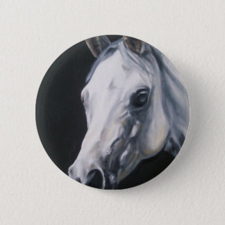 Bóton Redondo 5.08cm Um cavalo branco