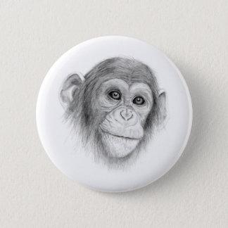 Bóton Redondo 5.08cm Um chimpanzé, não monkeying ao redor o esboço