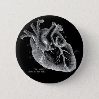 Bóton Redondo 5.08cm Um coração, inclinado à esquerda