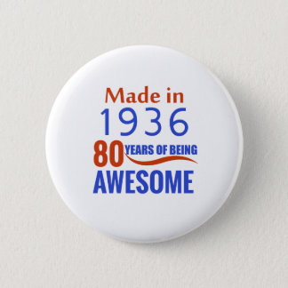 Bóton Redondo 5.08cm um design de 80 aniversários