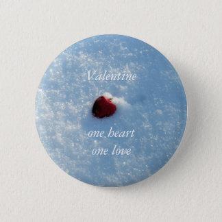 Bóton Redondo 5.08cm Um namorados vermelho do amor do Coração-Um