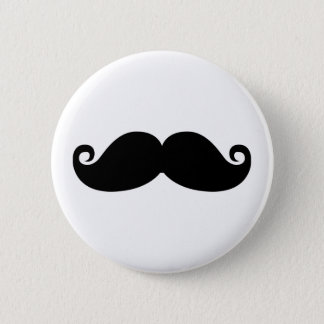 Bóton Redondo 5.08cm Um projeto engraçado da forma do bigode do preto