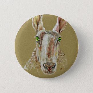Bóton Redondo 5.08cm Um retrato de um carneiro