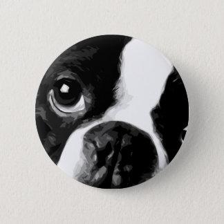 Bóton Redondo 5.08cm Um terrier preto e branco de Boston