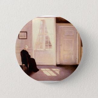 Bóton Redondo 5.08cm Uma leitura da mulher por uma janela