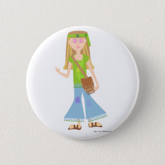 Bóton Redondo 5.08cm Uma menina Sassy do Hippie