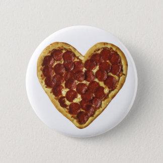 """Bóton Redondo 5.08cm Uma """"pizza"""" meu coração"""