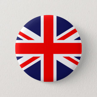 Bóton Redondo 5.08cm Union Jack - bandeira BRITÂNICA