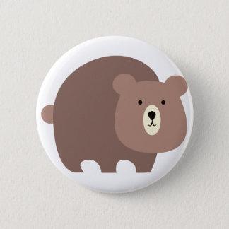 Bóton Redondo 5.08cm Urso de Brown