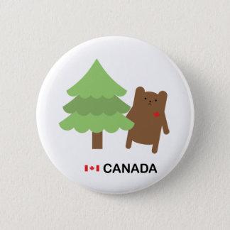 Bóton Redondo 5.08cm Urso de Canadá