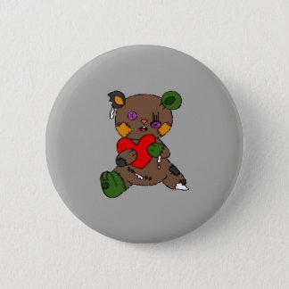 Bóton Redondo 5.08cm Urso de ursinho do zombi