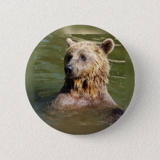 Bóton Redondo 5.08cm urso nadador