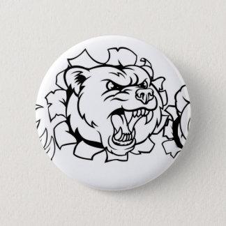 Bóton Redondo 5.08cm Urso que guardara a bola de tênis que quebra o