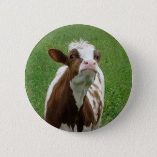 Bóton Redondo 5.08cm Vaca de leite da leiteria na fazenda