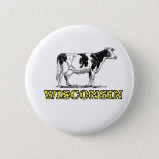 Bóton Redondo 5.08cm Vaca de leiteria de Wisconsin