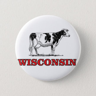 Bóton Redondo 5.08cm vaca vermelha de Wisconsin