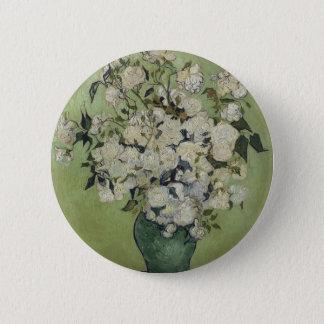 Bóton Redondo 5.08cm Vaso de Vincent van Gogh dos rosas que pintam a