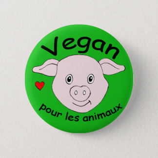 Bóton Redondo 5.08cm vegan para os animais