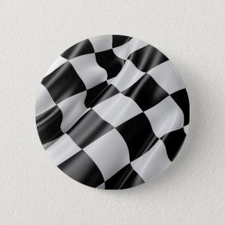 Bóton Redondo 5.08cm Velocidade preto e branco do revestimento da