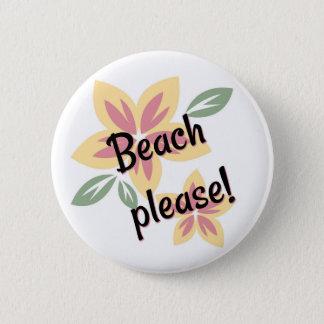 Bóton Redondo 5.08cm Verão floral - praia por favor
