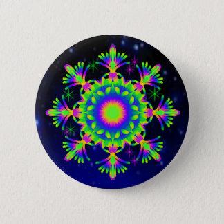Bóton Redondo 5.08cm Verde do botão do caleidoscópio de WQ