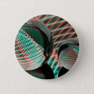 Bóton Redondo 5.08cm Verde e vermelho na bola de cristal