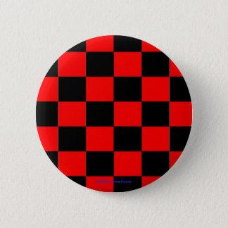 Bóton Redondo 5.08cm verificadores pretos & vermelhos do botão -