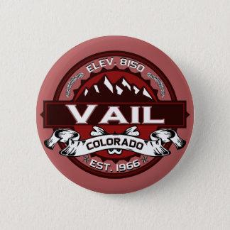 Bóton Redondo 5.08cm Vermelho do logotipo da cidade de Vail
