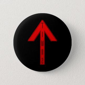 Bóton Redondo 5.08cm Vermelho do Rune de Tiwaz