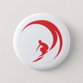 Bóton Redondo 5.08cm Vermelho do surfista