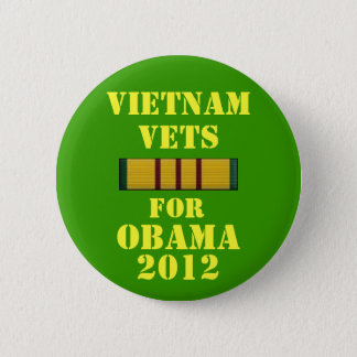 Bóton Redondo 5.08cm Veterinários de Vietnam para Obama 2012