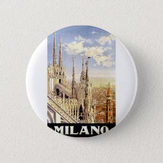 Bóton Redondo 5.08cm Viagem de Milão do vintage