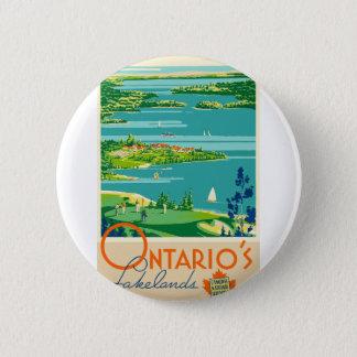 Bóton Redondo 5.08cm Viagens vintage Ontário Canadá