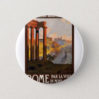 Bóton Redondo 5.08cm Viagens vintage Roma Italia 1920