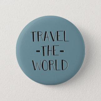 Bóton Redondo 5.08cm Viaja o botão do mundo