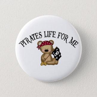 Bóton Redondo 5.08cm Vida dos piratas para mim