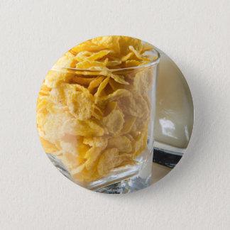 Bóton Redondo 5.08cm Vidro do cereal seco e um vidro do leite