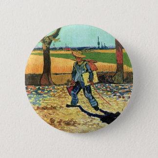 Bóton Redondo 5.08cm Vincent van Gogh - pintor em sua maneira de