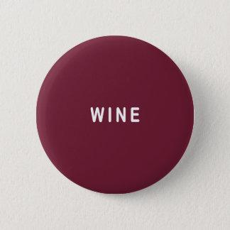 Bóton Redondo 5.08cm Vinho tinto
